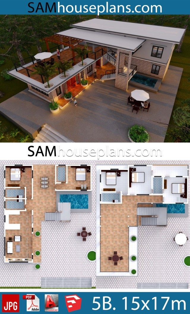 House Plans 15x17 With 5 Bedrooms Sam House Plans House Layout Plans Beautiful House Plans House Plans