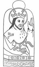 """St. Edward the Confessor: Early misfortune taught E. the folly of ambition; he grew up, delighting chiefly in assisting at Mass and the church offices, tho not disdaining sport, he undertook no wars except to repel an inroad of the Welsh, and to assist Malcolm III of Scotland against Macbeth,... E's one aim was the good of his people. He stpd """"Danegelt"""" & though profuse in alms.., he made his own royal patrimony suffice w/out taxes. more from http://www.newadvent.org/cathen/05322a.htm"""