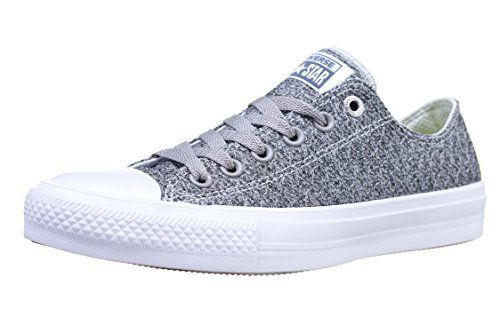 Converse 154025C : Mens Chuck Taylor All Star Low II Sneaker (Mouse/White, 50)