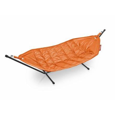 Hamac Fatboy orange large avec support métal– En vente sur Pouf-Design