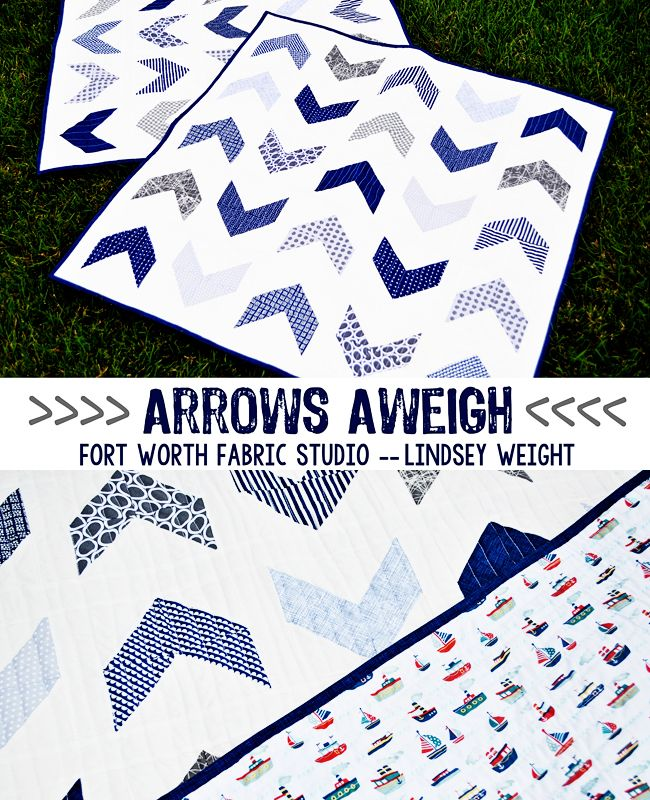 Arrows Aweigh {Boy Quilt} Free Quilt Pattern from Fort Worth Fabric Studio -- Lindsey Weight