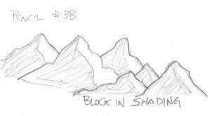 how to draw mountains - Light source to the right