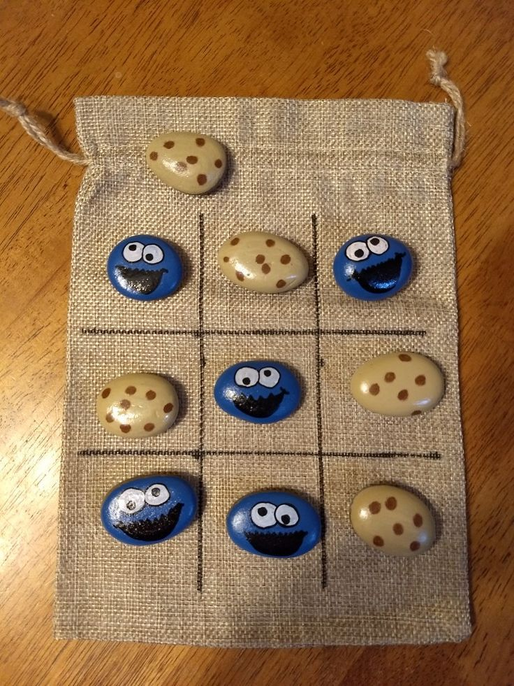 Cookie monster tic-tac-toe game