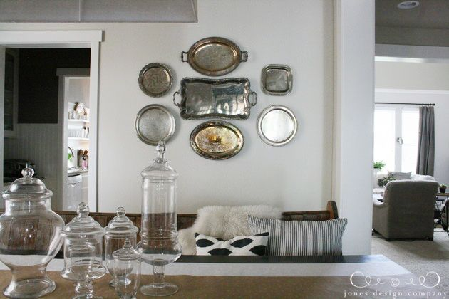 63 best images about displaying silver on pinterest for What to hang on dining room walls