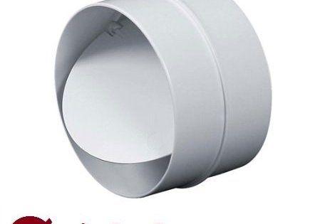 MKK K010022 Raccord avec clapet anti-retour Tuyau de ventilation rond Ø100mm VMC: Les systèmes d'aération sont pour une utilisation dans…