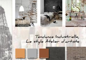 Moodboard - Déco, planche d'ambiance, tendance industrielle, style atelier d'artiste, réalisation well-c-home