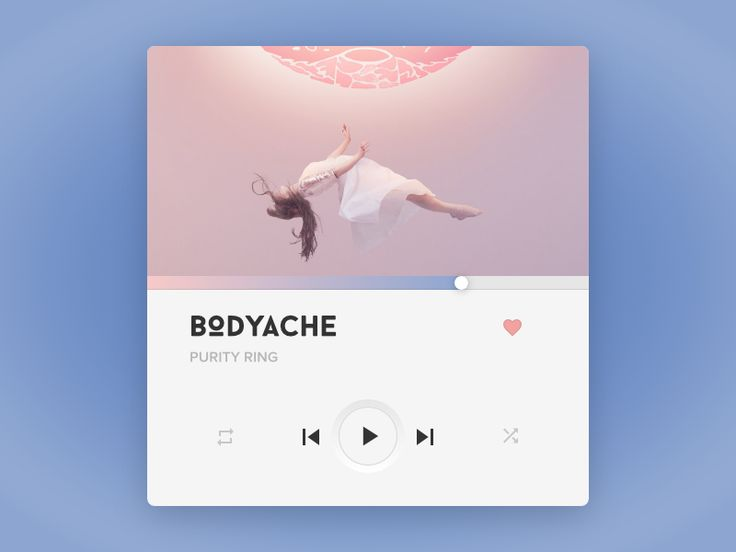 My dribbble debut ;) Music Player in PANTONE Color(s) of the Year 2016. Thanks!