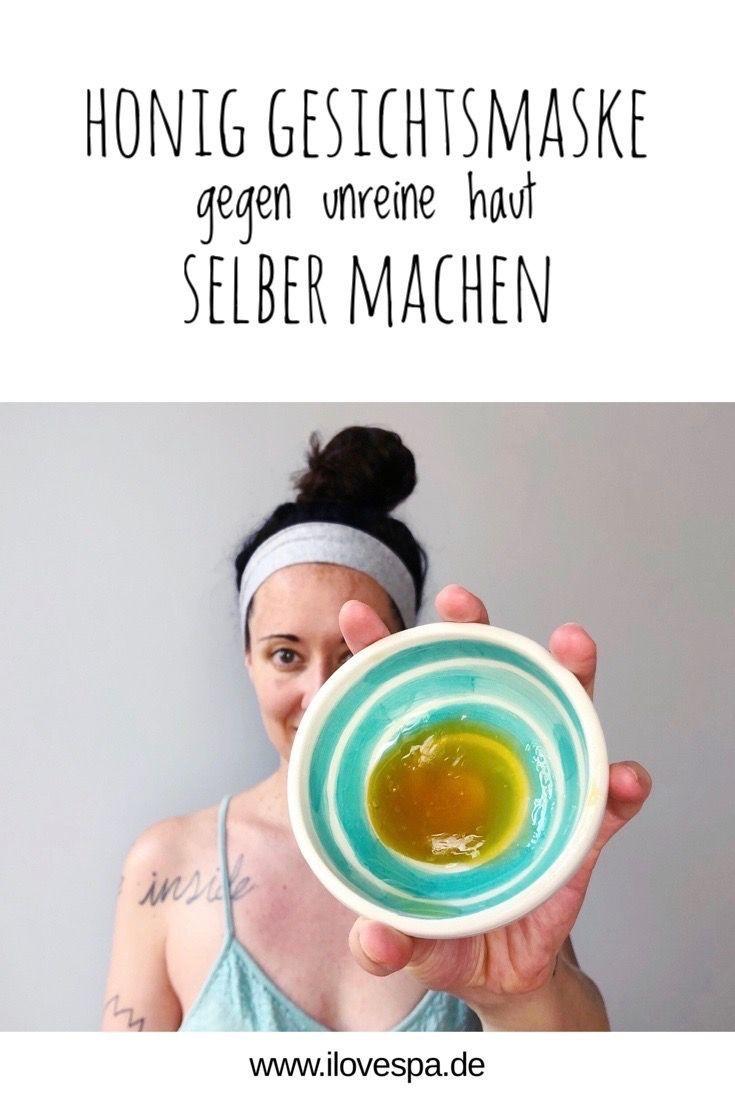 DIY Honig Maske gegen Pickel und unreine Haut mit Manuka Honig