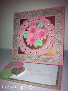 Two Early Birds: Anniversary Easel Card