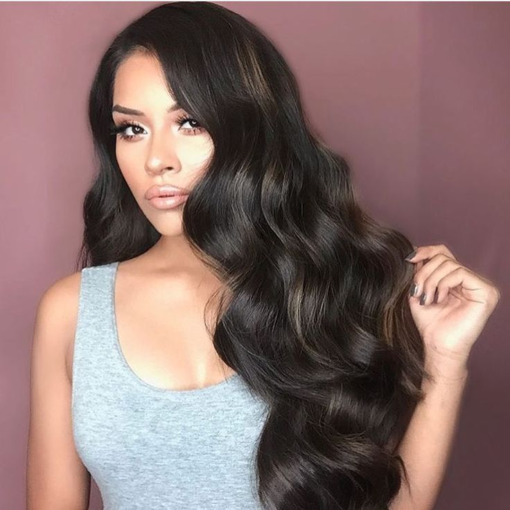 """Hair fit for a Princess  @iheart_sarahiiy is rocking her new 340g 22"""" #1C Mochachino Brown BooGatti set"""
