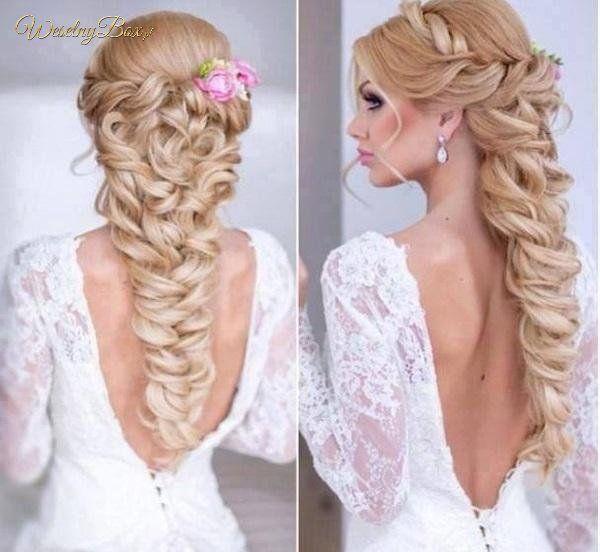 Fryzura ślubna na długich włosach! Super splot!