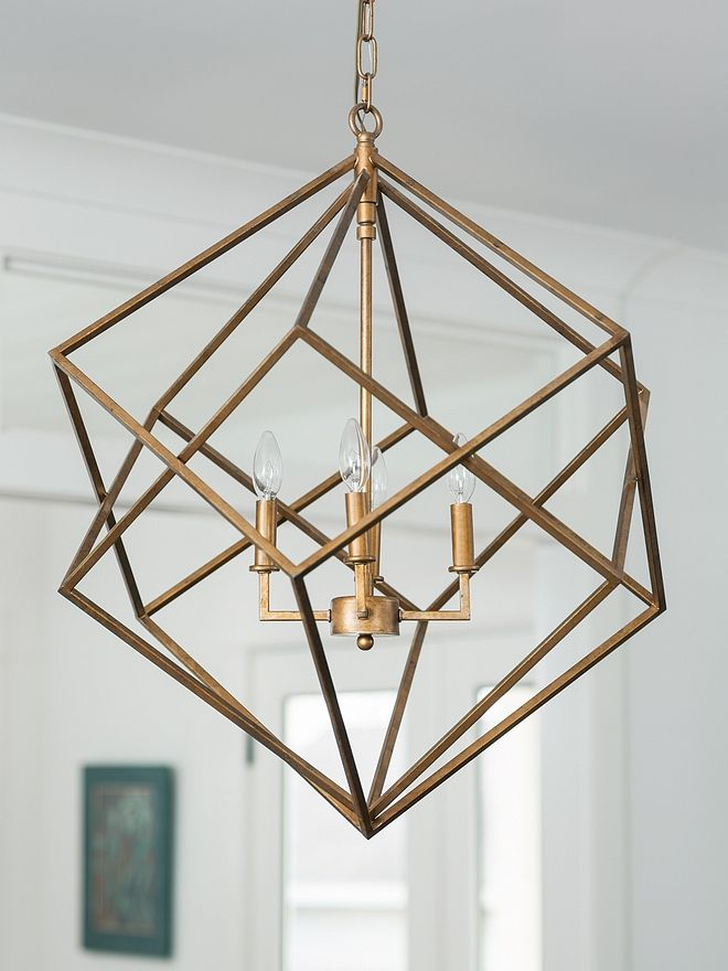 Geometric Lighting Geometric Pendant Lighting Brass Geometric