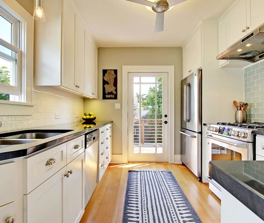 Contemporary Galley Style Kitchen Home Slices Pinterest