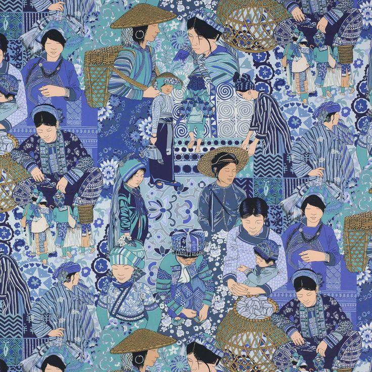 Voyage en Chine Fabric - Cowtan Design Library - manuel casanovas