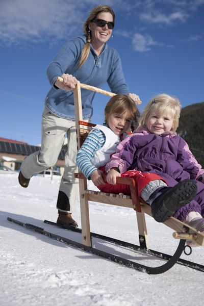 Mountain Boy Sledworks - Handmade Wooden Sleds  Wagons - Silverton, Colorado - Double Kick Sled