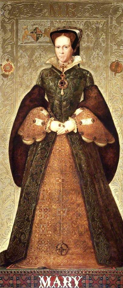 Queen Mary I of England Grand daughter of Queen Isabella of Spain.