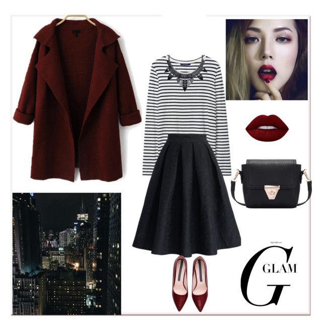 Untitled #26 by nastja11t on Polyvore featuring polyvore, fashion, style, GANT, Chicwish, Lime Crime and clothing