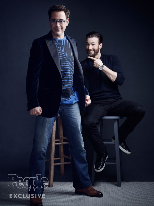 Robert Downey Jr. and Chris Evans for People Magazine (May 9, 2016)
