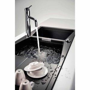 Cuba Dupla de Sobrepor para Cozinha Tramontina Syntesis 2C 33 Preto