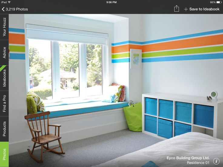 Love the stripes on the wall! Pre-k Sunday school classroom decor ideas.