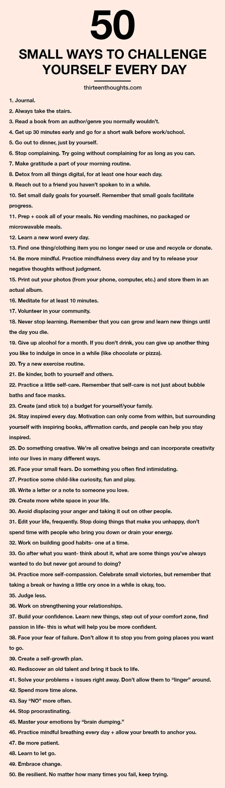 50 kleine Möglichkeiten, sich jeden Tag selbst he…