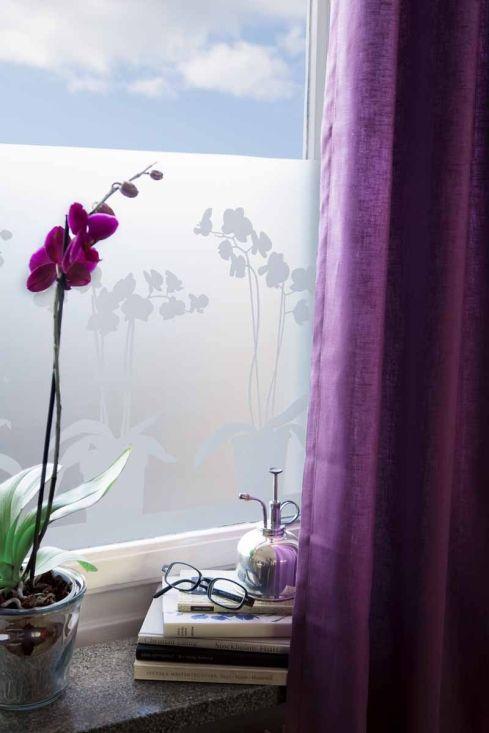 Fönsterfilm Orkidé Silhuett Frost i gruppen Smart Design  hos HouseofHedda.com (LADPOrkideLarger)