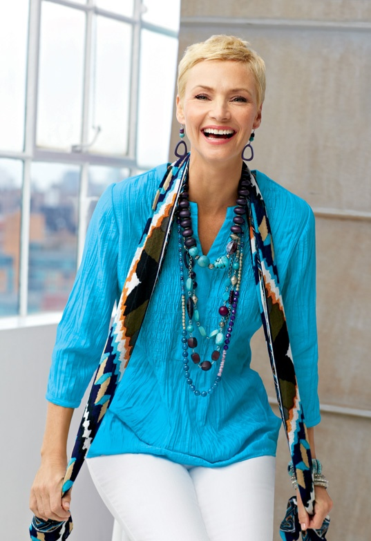 Top of the List: Tunics #chicos - love this shade of blue