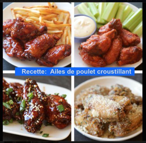 Recette : Ailes de poulet croustillant  Trouvez encore plus de citations et de dictons sur: http://www.atmosphere-citation.com/trucs-et-astuces/recette-ailes-de-poulet-croustillant.html?