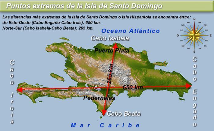 Medida De Largo Y Ancho De La Isla Española Cordilleras De La Isla Española Mapa Político De La República Dominicana Grinch