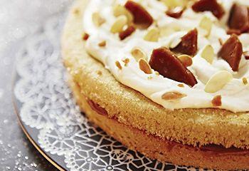 Gâteau aux #amandes, érable et éclats de #caramel ultrarapide