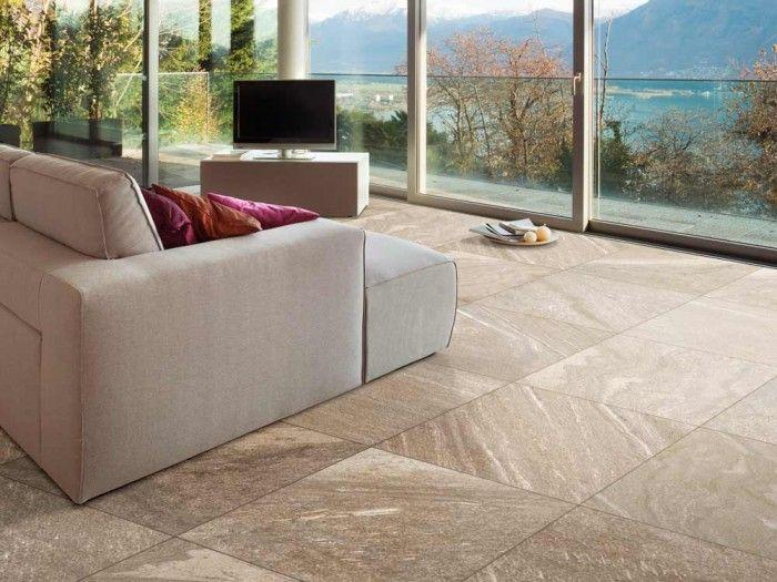 Geo Quartz Brown Glazed Porcelain Floor Tile