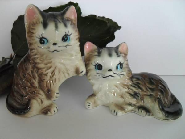 Søte katter salt og pepper bøsser fra 50/60 tallet -