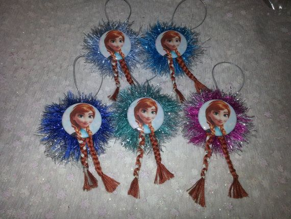 FROZEN CHRISTMAS ORNAMENT Princess Anna with long by everydayabow