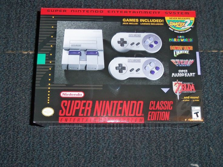 SNES Super Nintendo Entertainment System Classic Edition Mini Console New Free S | eBay
