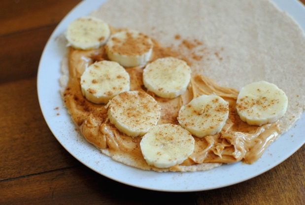 45. Nut Butter Roll-Up http://greatist.com/fitness/50-awesome-pre-and-post-workout-snacks
