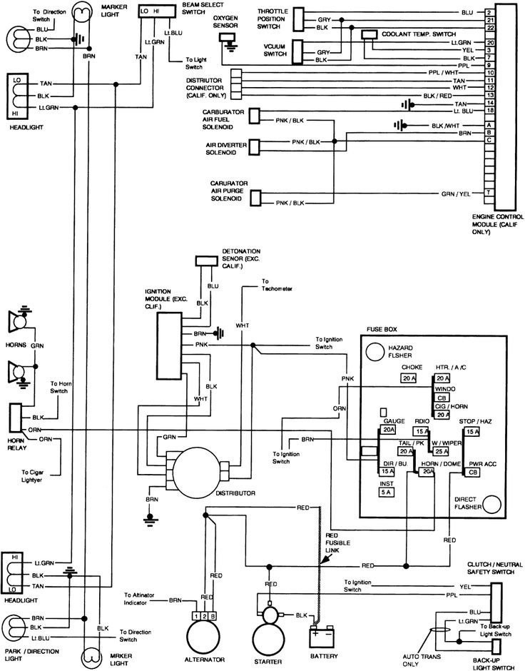 1990 Chevy Silverado C1500 Wiring Diagram