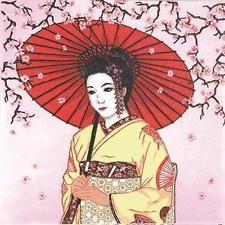 20 Servietten Geisha Japan China Asien asiatisch japanisch rosa Motivservietten