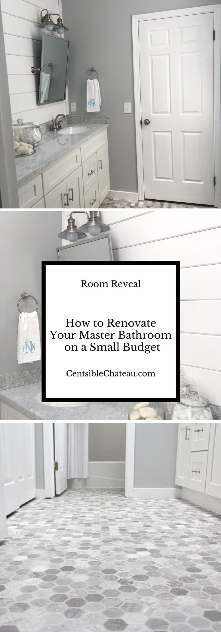 This master bath remodel will show you how you can have an upscale bathroom design a small Budget. Master Bathroom Ideas|Farmhouse Bathroom|Master Bathroom Remodel