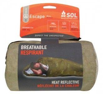 Аварийный спальный мешок для выживания SOL Escape Bivvy