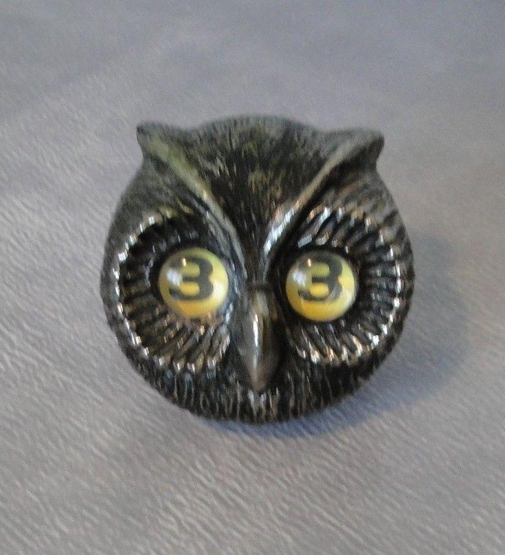 VINTAGE DATEUR PERPETUEL Chouette Hibou  Owl 70's ! Ges Gesch Germany