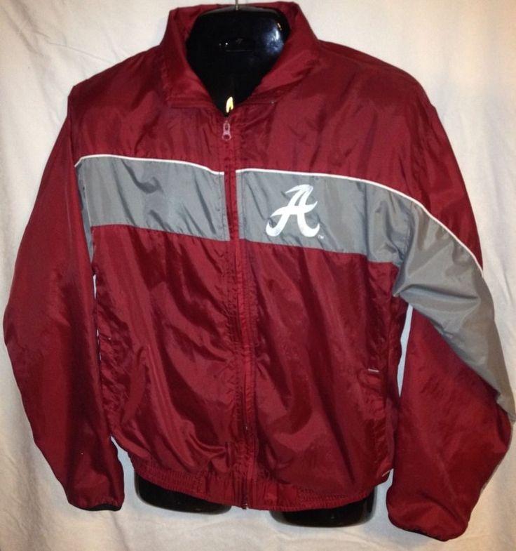 Rare Alabama Crimson Tide Rain Jacket Windbreaker M Medium Unisex Vintage Alabamacrimsontide