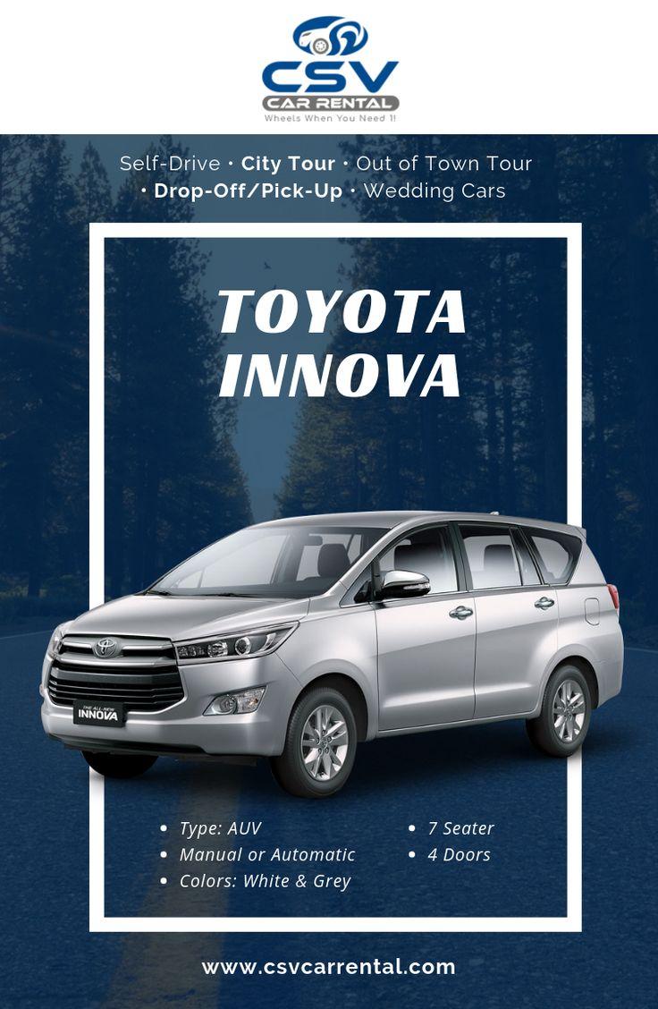 For Rent Toyota Innova Car For Rent in Cebu 7 Seater Car