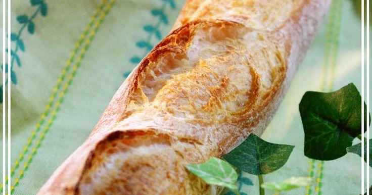 気軽に美味しいバゲットを作りましょう♪扱い易い生地で、成形も簡単☆パリパリのクラストが香ばしくて美味しいです。