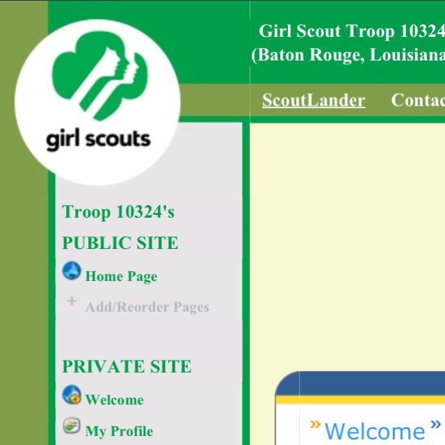 Wanna communicate easily with parents? Wanna share pics of your troop safely online? Wanna manage troop events with a nifty online calendar? Try TroopLander - an easy to use, safe, and FREE Web site creator for your troop. It's so easy that eventually your girls will be able to manage it themselves! http://www.scoutlander.com/publicsite/faqs.aspxFree Website