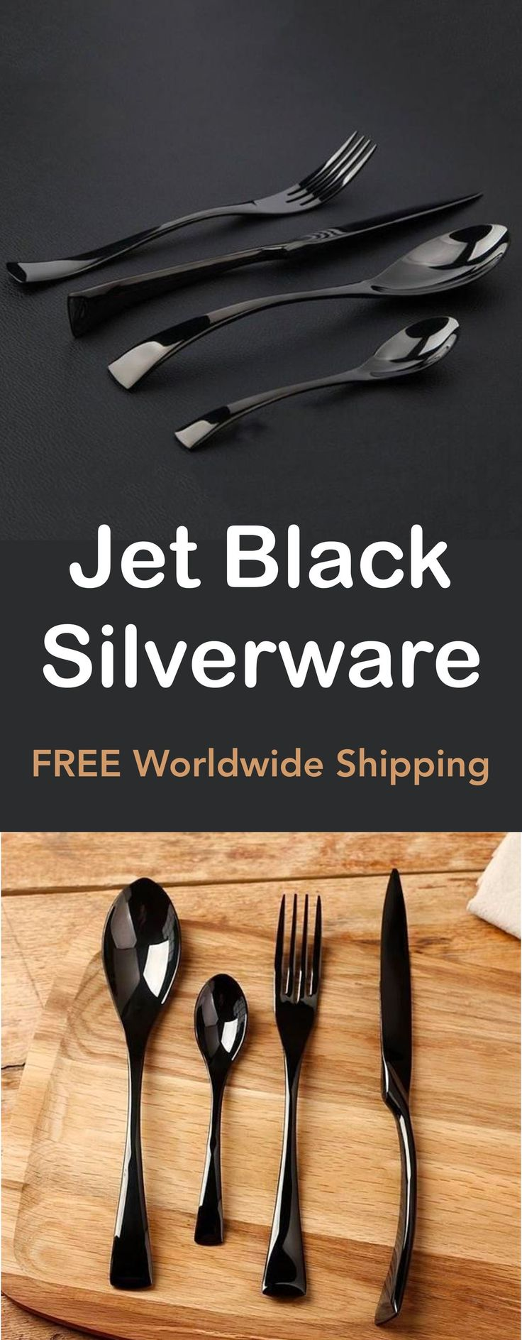 Jet Black Silverware