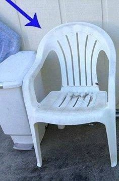 """OMG, this is amazing! I have old plastic chairs and I am stealing this idea!"" said a reader"