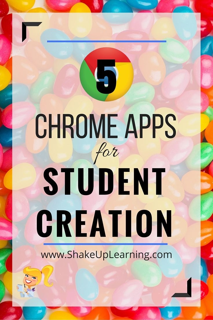 5 Chrome Apps for Student Creation: Get students creating on the web and on #Chromebooks!