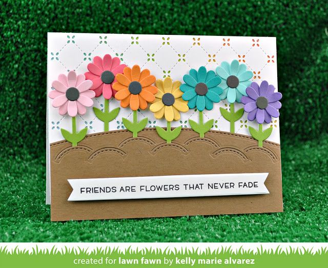 the Lawn Fawn blog: Lawn Fawn Intro: Some Bunny, Stitched Garden Border, Little Flowers + Happy Easter Line Border