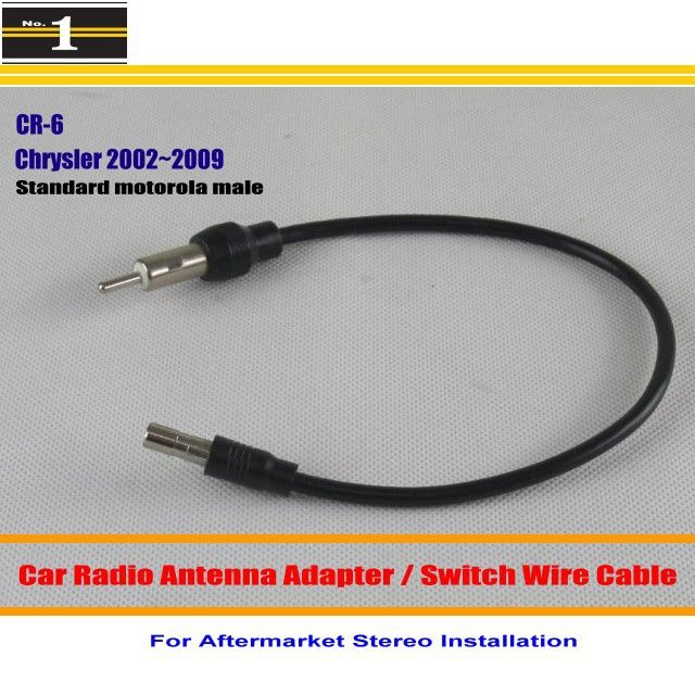 For Chrysler 300 300C 300M Aspen Concorde Pacifica PT Cruiser - Car Radio Antenna Adapter / Standard Motorola Male