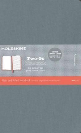 Moleskine Two-Go Notebook Medium Ruled-Plain Saxe Blue : 9781223128047